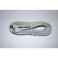 Удлинитель USB штекер - гнездо USB, диам. 4,5мм. - 3м.